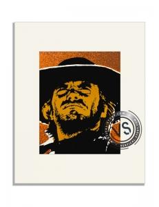 """Extrait de l'affiche """"L'homme des hautes plaines (Vertical)"""""""