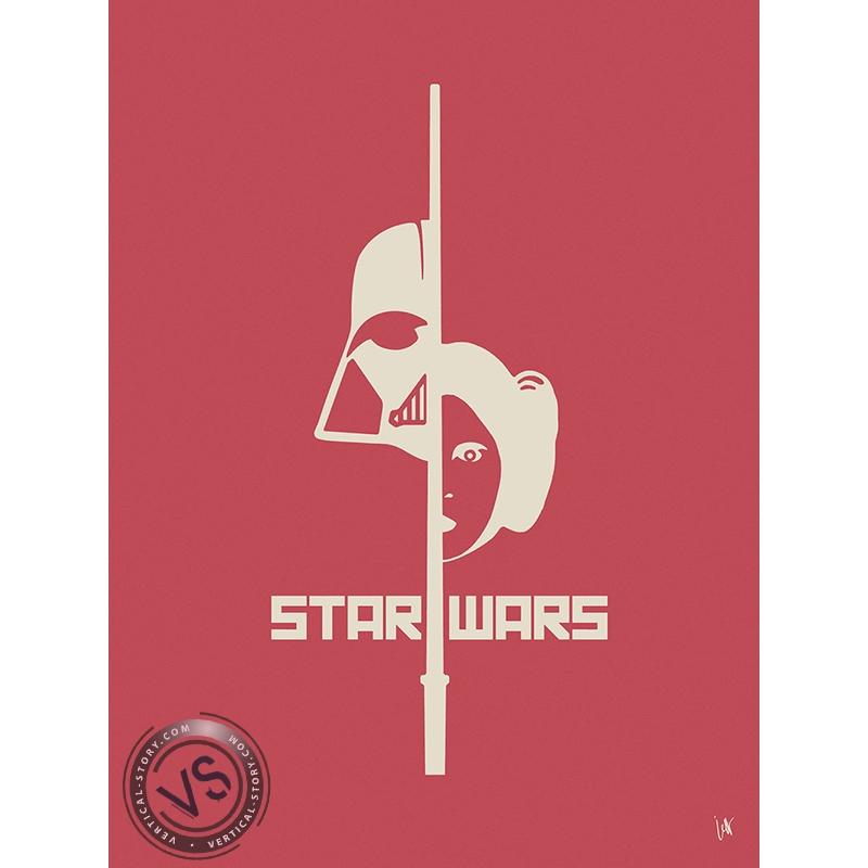 star wars 1 film 1 symbole par jeff vertical story. Black Bedroom Furniture Sets. Home Design Ideas