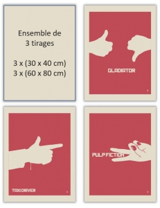 TAXI DRIVER - PULP FICTION - GLADIATOR - 1 Film - 1 Symbole par Jeff